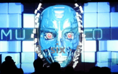 Terminator Inspired Face Projection Mapping In The Night Club