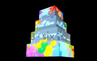 3D Cake Projection Mapping 20th Anniversary